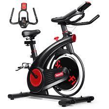 SuperFit Stationary Exercise Bike Silent Belt Drive Cycling Bike | Walmart  Canada
